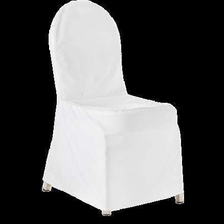 Stoltrekk, hvitt til bankettstol B:45cm H:93cm 1 / 1