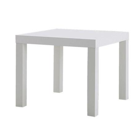 Sofabord hvit, 55x55x45cm 1 / 1