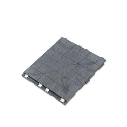 Gulv til flatt terreng, grå plater pr.m² 1 / 2
