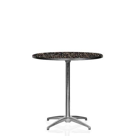 Cafébord, laminat 2-4 pers. D:76cm H:73cm 1 / 2