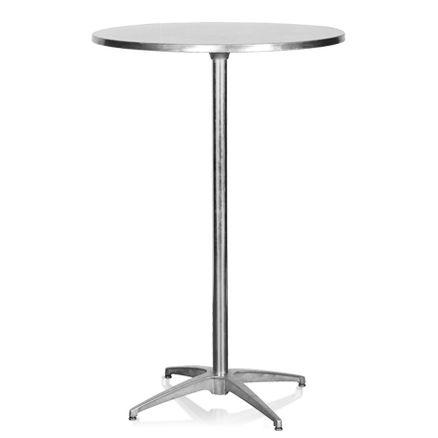 Cocktailbord, stål 4 pers. D:76cm H:110cm 1 / 2